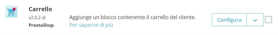 Carrello PrestaShop