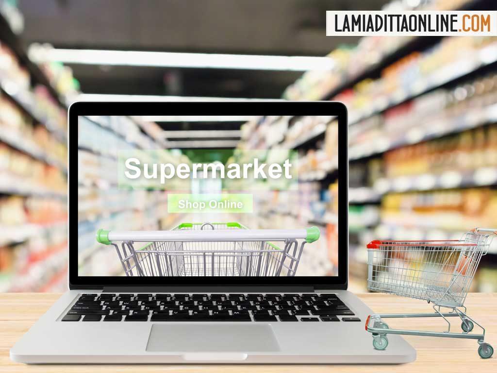 Il boom della spesa nei supermercati è anche online